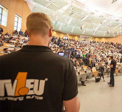 TV1 Produktion im Hörsaal