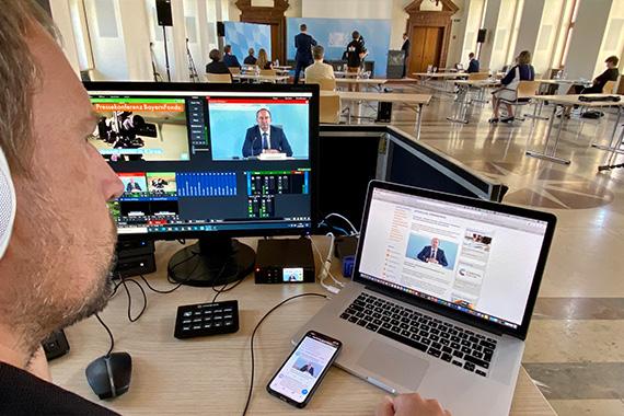 Pressekonferenz des Bayerischen Wirtschaftsministeriums