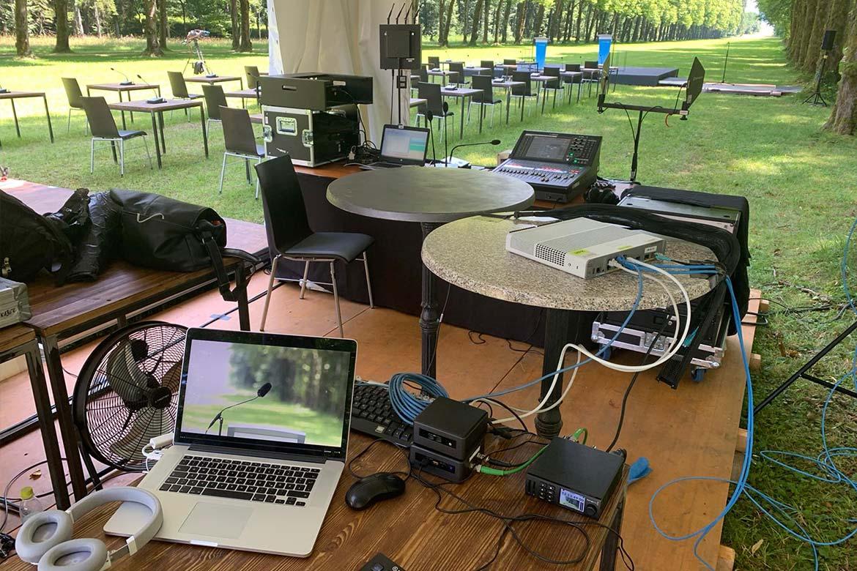 TV1 Produktion bei der Pressekonferenz am Schloß Herrenchiemsee