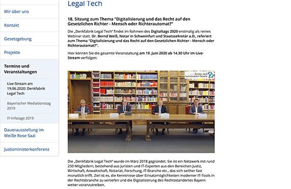 Abrufbar auf der Website des Justizministeriums