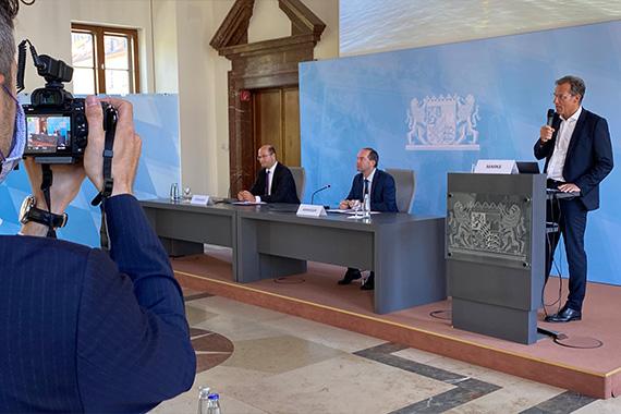 PK im Bayerischen Wirtschaftsministerium in München