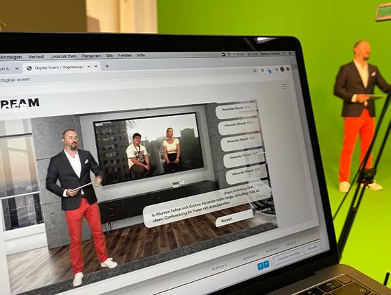 Livestream und Livestream Produktion mit Green Screen