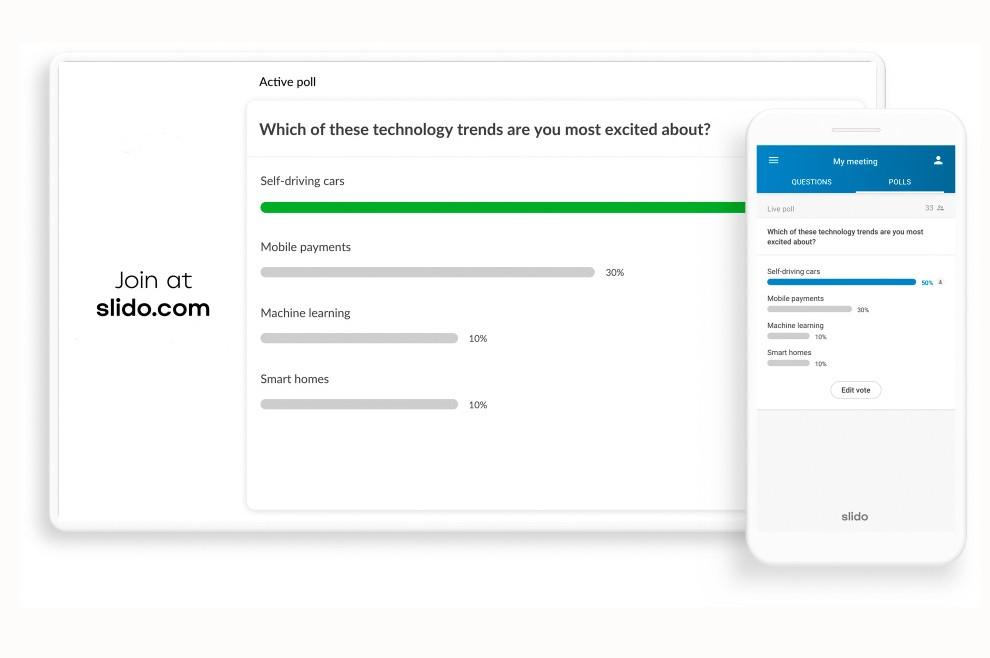 Umfrage Tool mit Smartphone